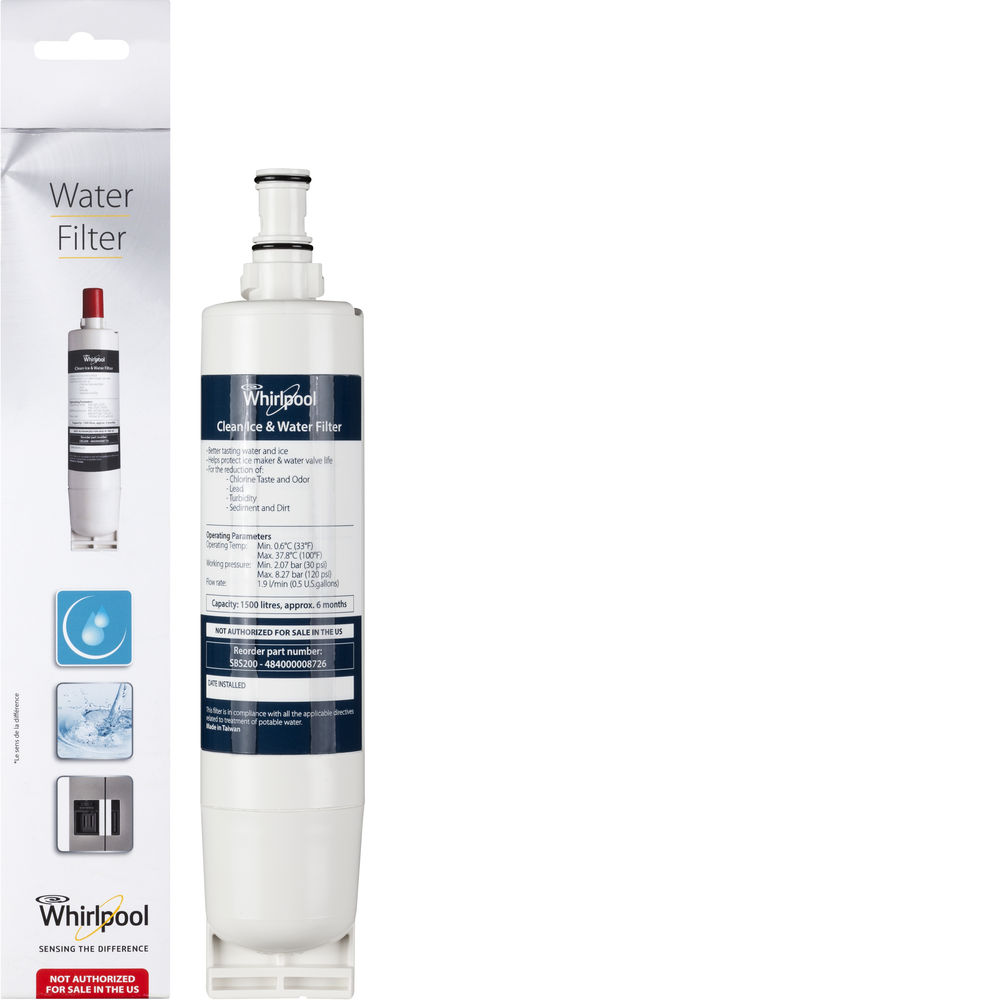 Whirlpool interne waterfilter voor Whirlpool Side by Side koelkasten