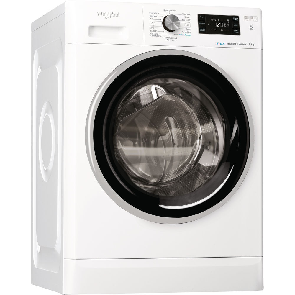 Whirlpool vrijstaande wasmachine: 8 kg - FFB 8468 BSEV NL