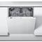 Whirlpool integrerad diskmaskin: färg silver, 60 cm - WIC 3C22 E SK
