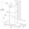 Whirlpool väggmonterad köksfläkt - WHSS 62F LT K
