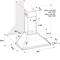 Whirlpool väggmonterad köksfläkt - WHCN 64 F LM X