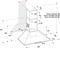 Whirlpool väggmonterad köksfläkt - AKR 685/1 IX