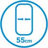 55 cm di larghezza