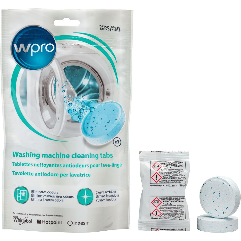 Washing machine anti-odour tabs - 3 tabs