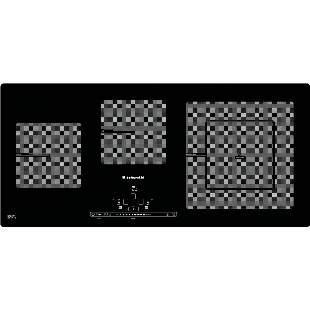 Table induction 90 cm khip3 90400 site officiel kitchenaid for Table induction 90 cm