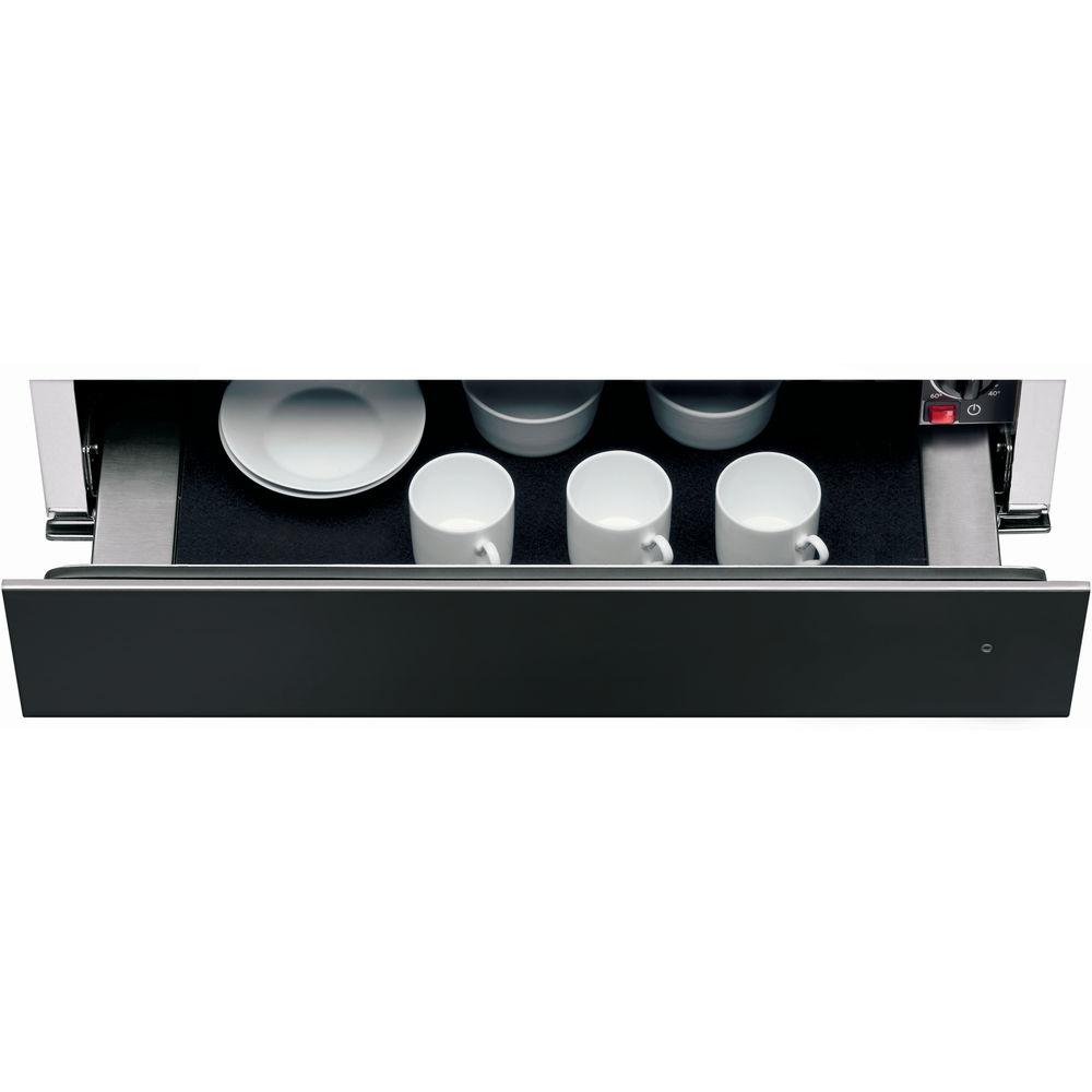 Tiroir chauffe plats 14 cm en acier inoxydable noir kwxxxb for Appareil menager cuisine