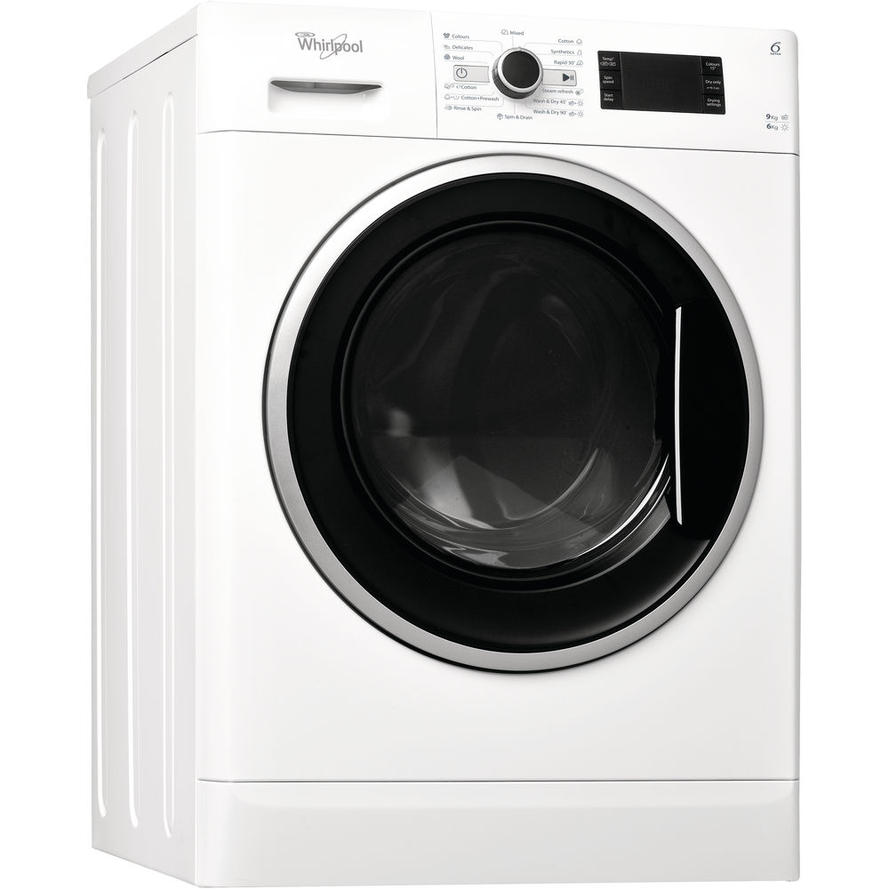 Whirlpool freestanding washer dryer: 9kg - WWDC 9614