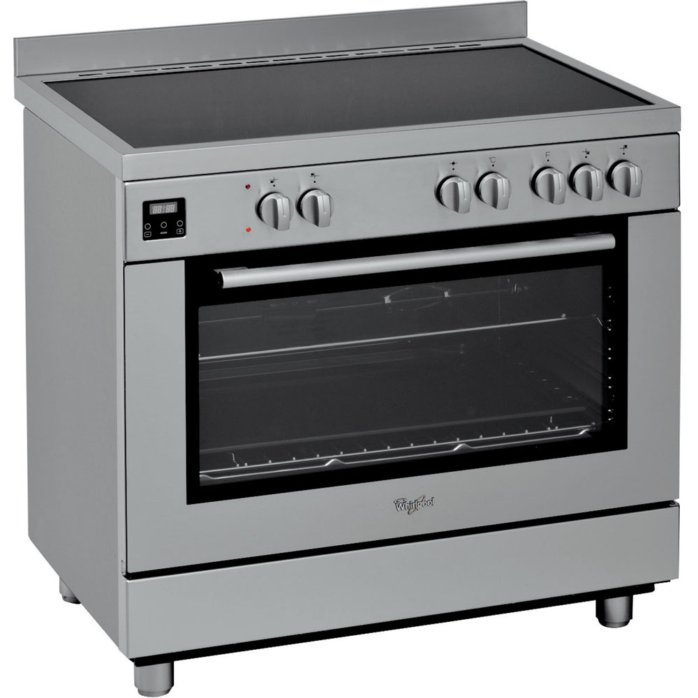 Cooker 90 Cm Electric Oven With Ceramic Hob Acm 9414 V Ix
