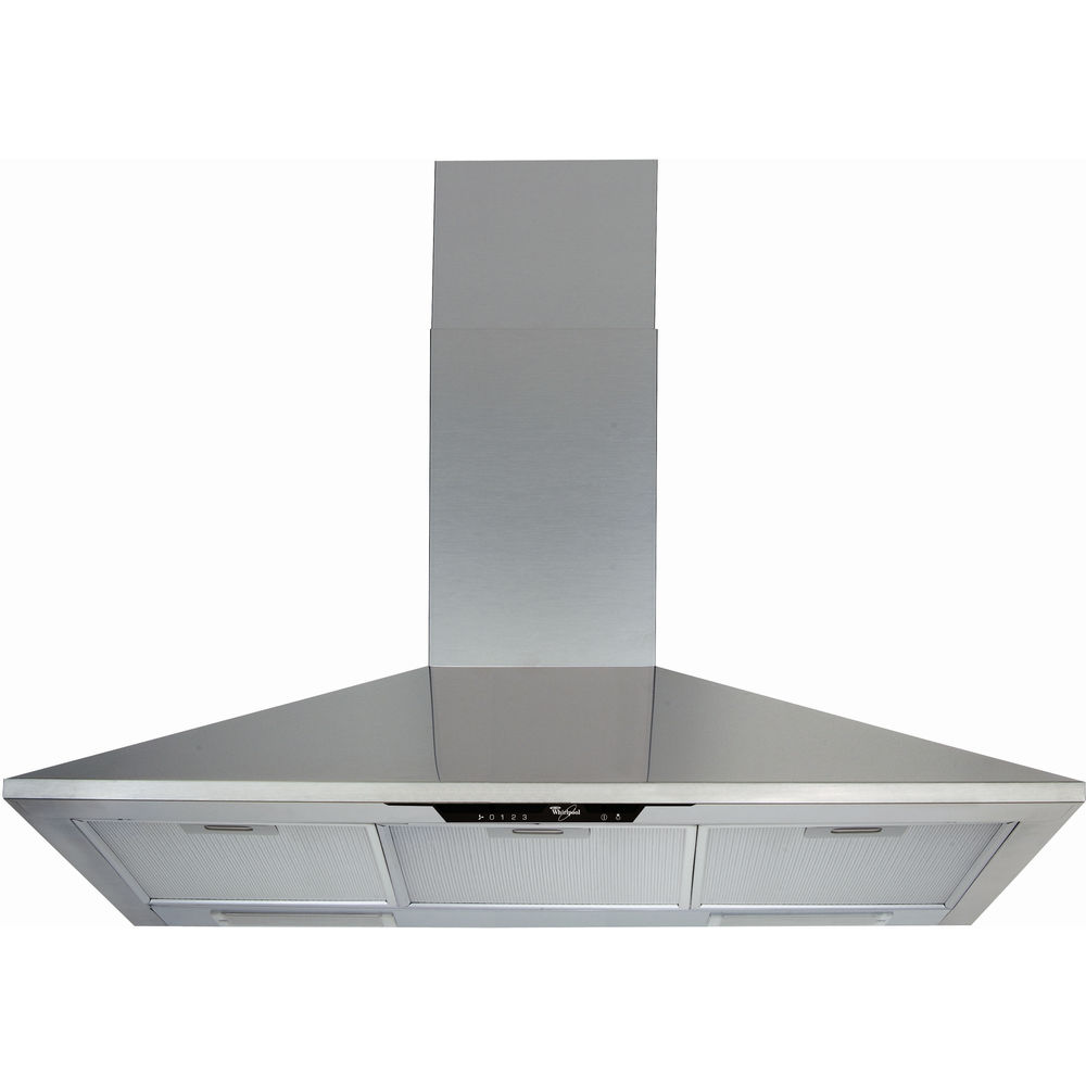 Whirlpool wall mounted cooker hood: chimney design - AKR 755/1 IX