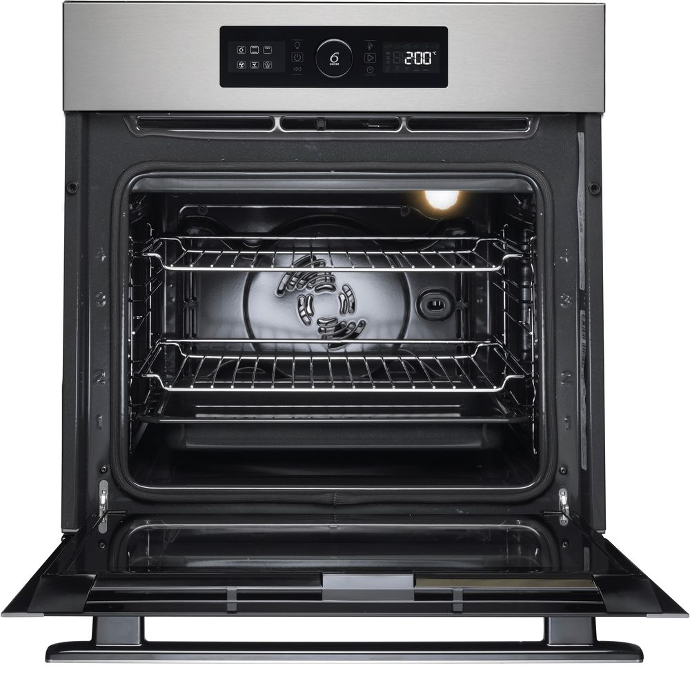 Whirlpool built in electric oven: inox color, self cleaning - AKZ 6270 IX