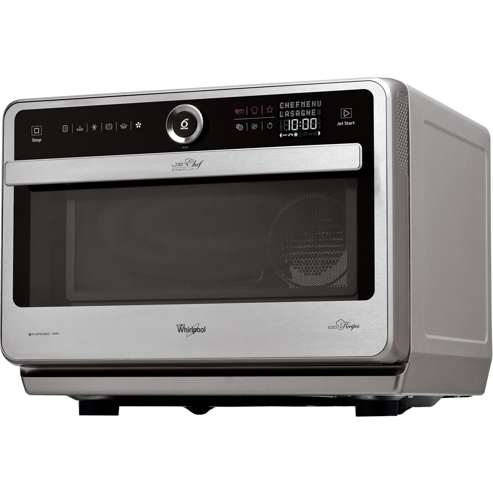 Whirlpool free-standing microwave oven: stainless steel colour - JT 479 IX