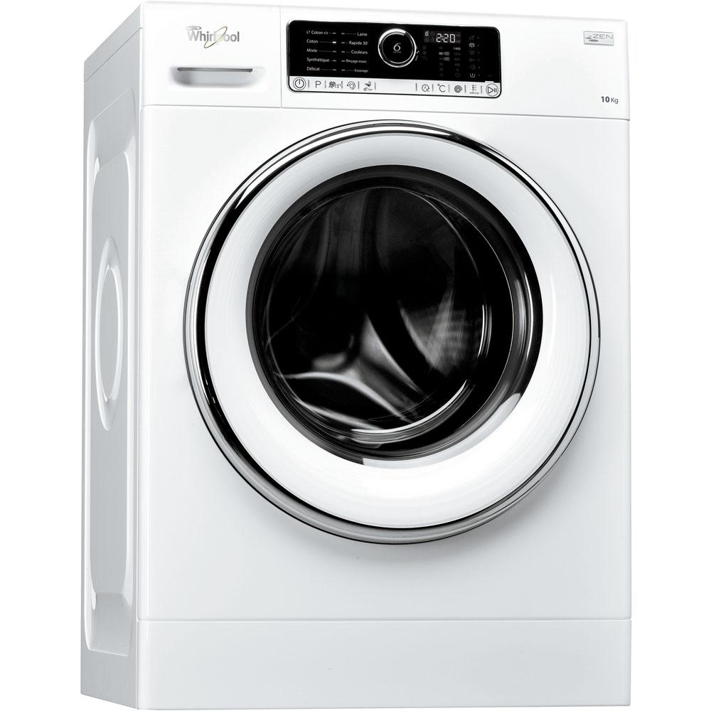 Machine À Laver Et Sèche Linge Intégré lave-linge hublot posable whirlpool: 10 kg - fscr10427