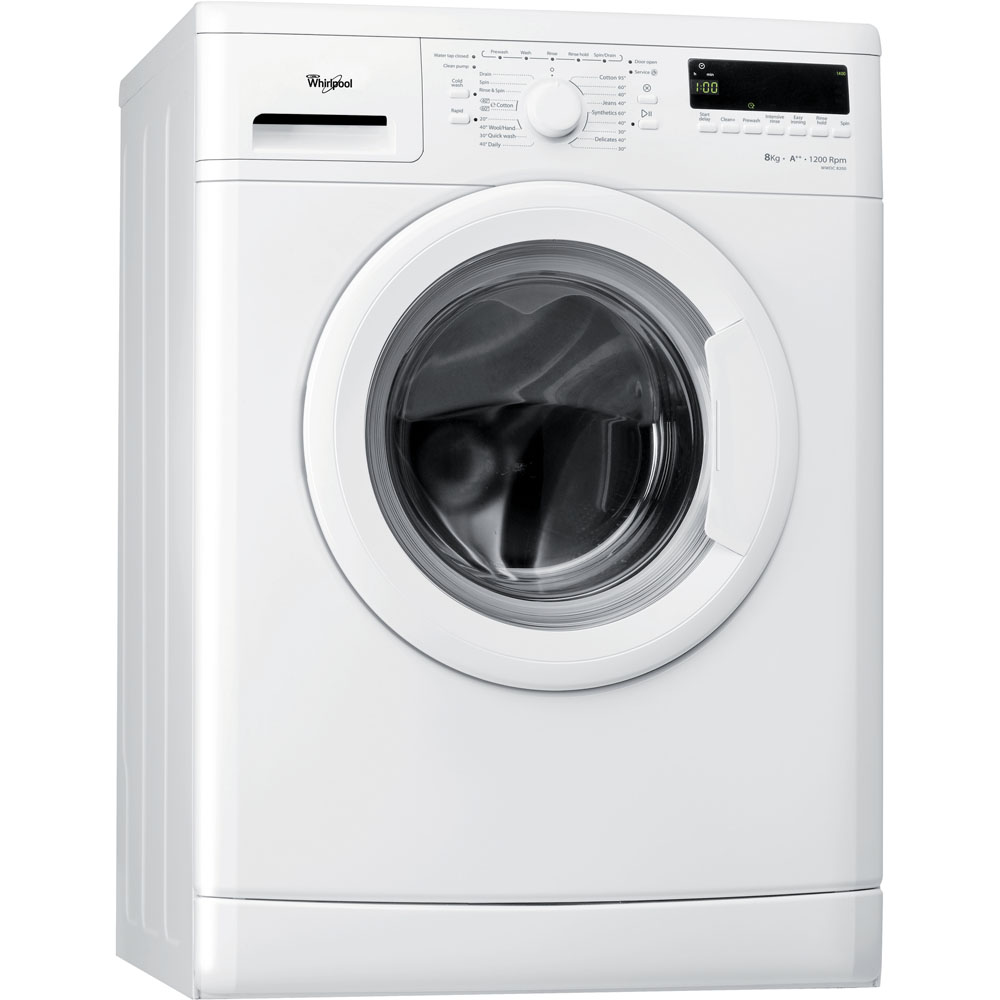 Whirlpool freestanding front loading washing machine: 8kg - WWDC 8200