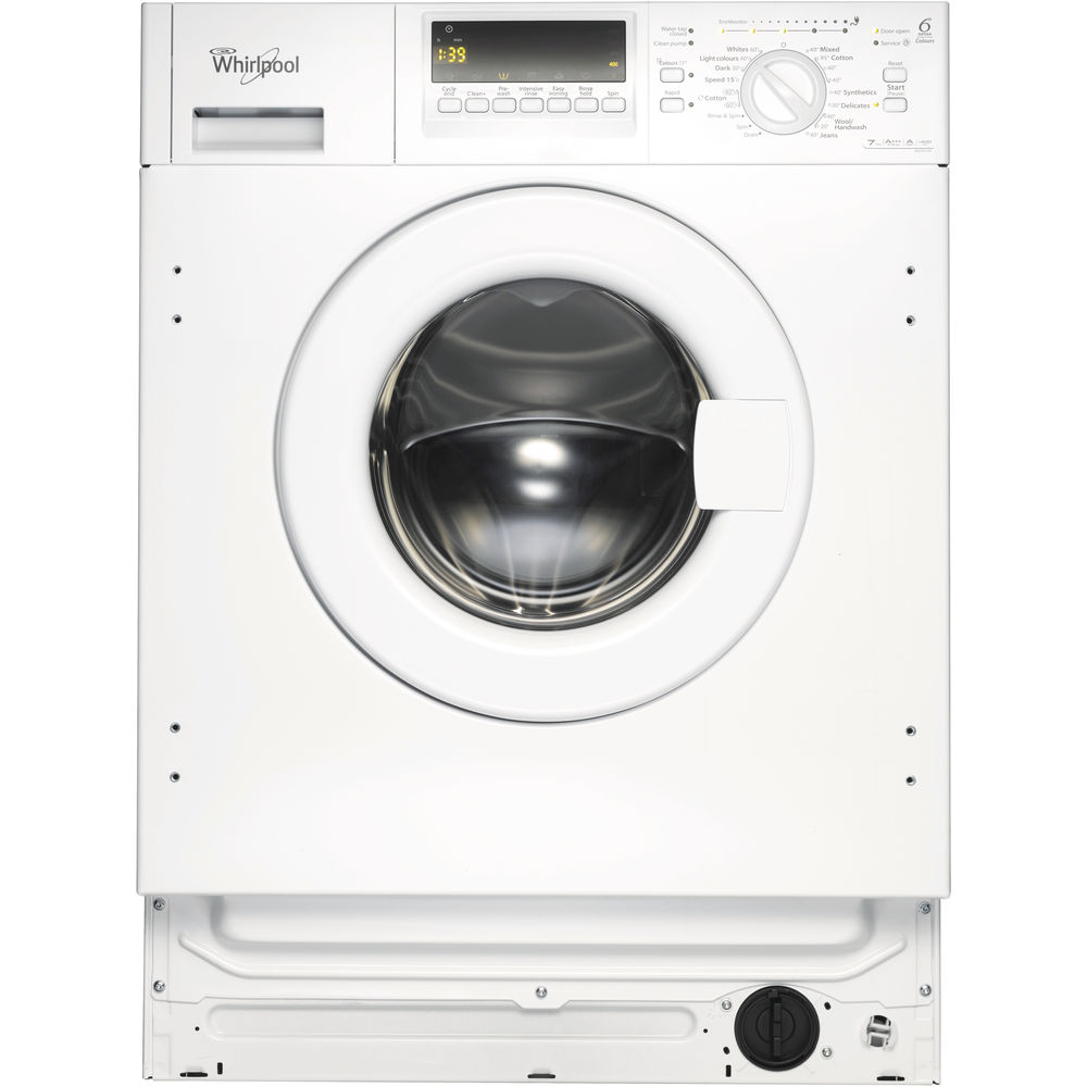 Whirlpool built in front loading washing machine: Whirlpool built in washing machine, 7kg - AWOE7143