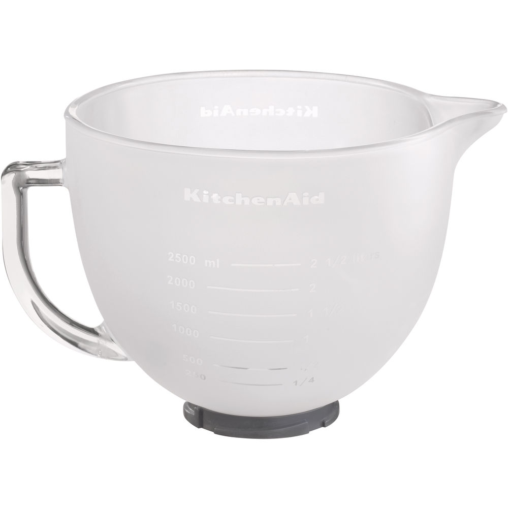 4.8 L Frosted Gl Bowl for 4.3 L and 4.8 L Stand Mixer 5K5GBF ... Kitchen Aid Gl Bowl on brown bowls, ikea bowls, gibson bowls, cambro bowls,
