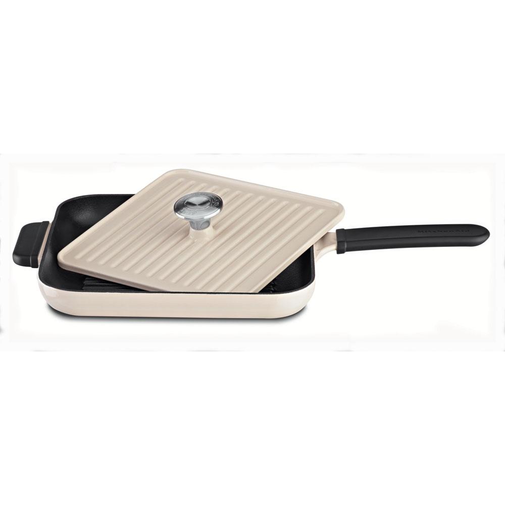 grillpfanne mit presse creme kci10gpac offizielle website von kitchenaid. Black Bedroom Furniture Sets. Home Design Ideas