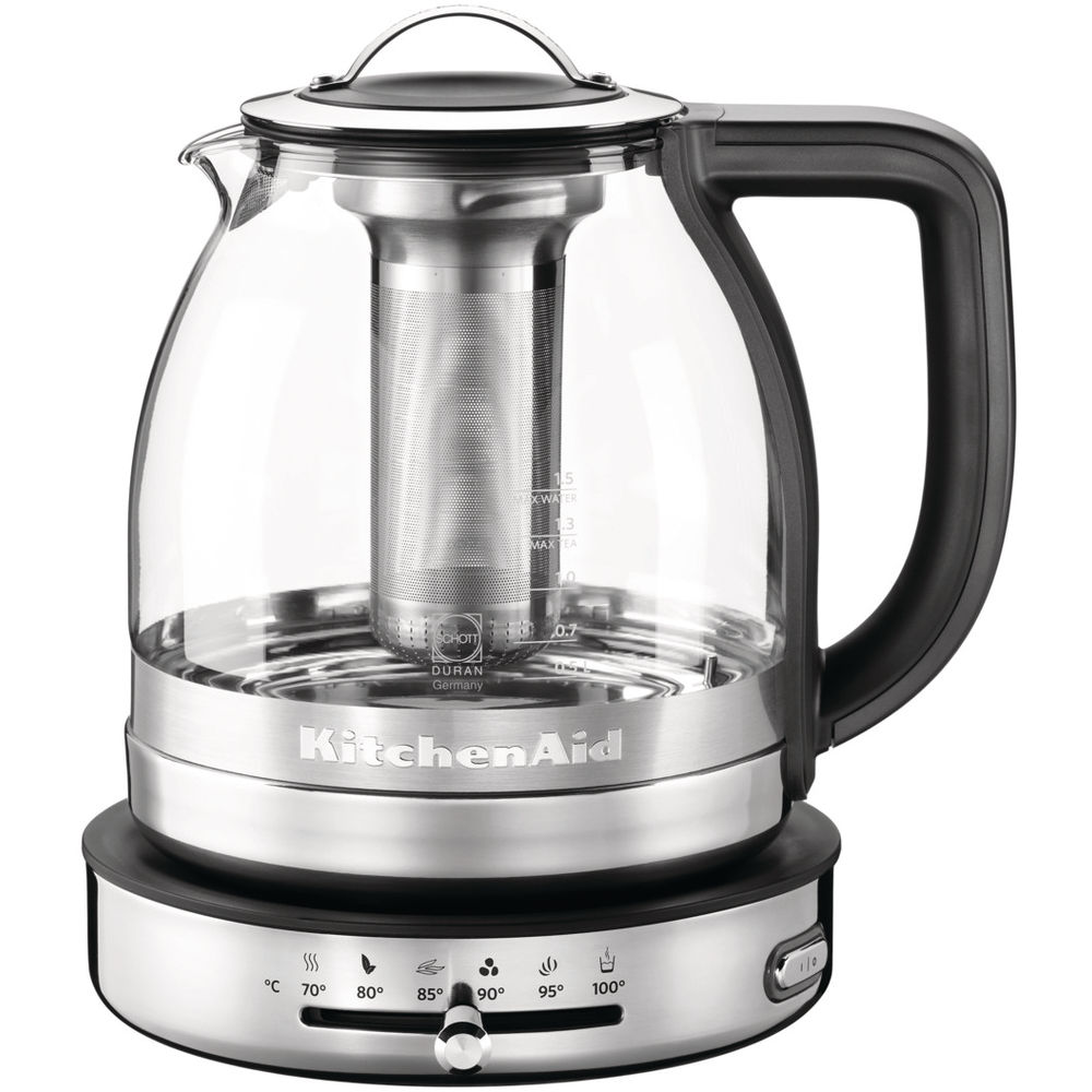 kitchenaid artisan 1 5 l glass tea kettle 5kek1322ss. Black Bedroom Furniture Sets. Home Design Ideas
