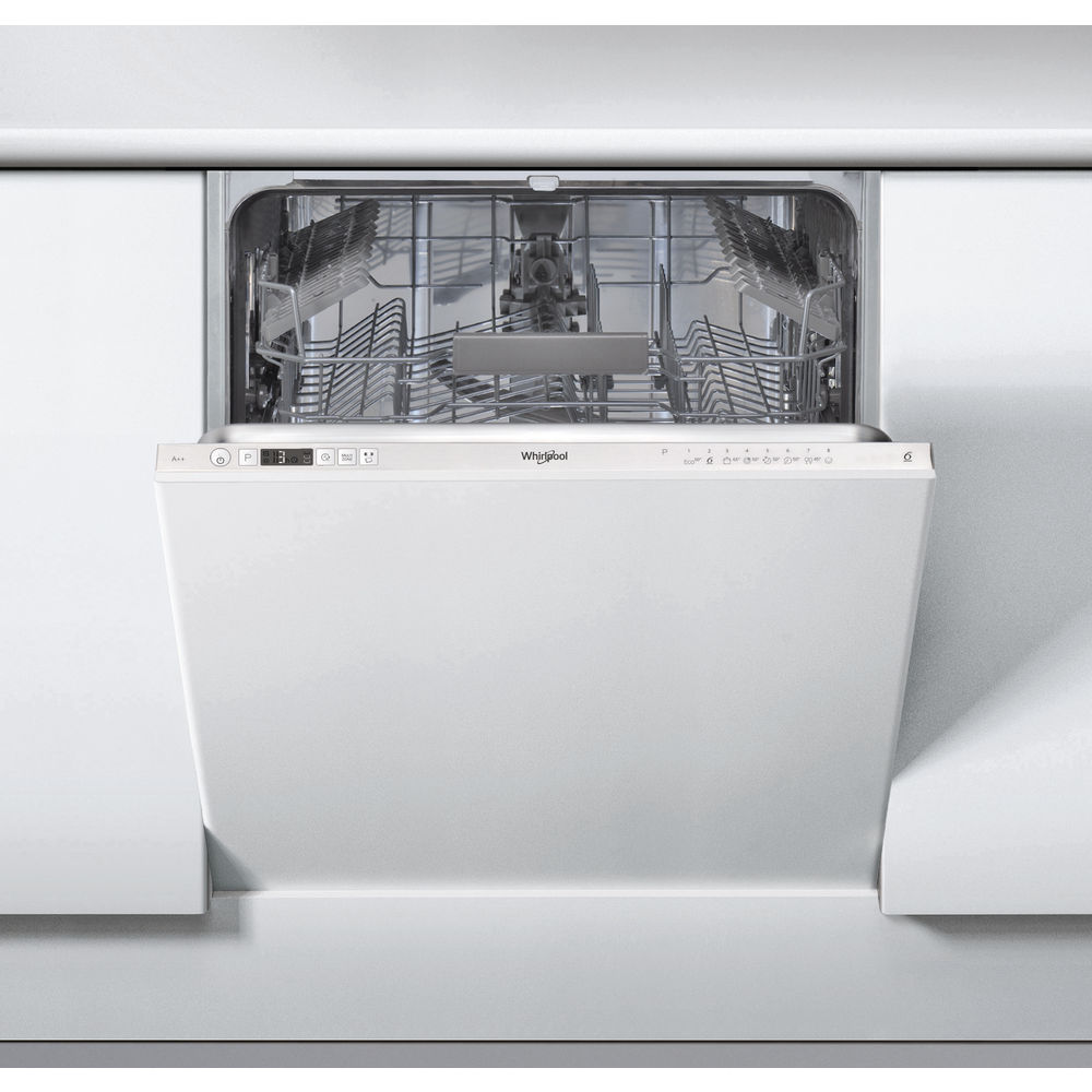 Whirlpool integrated dishwasher: full size, silver color - WIC 3C26 UK