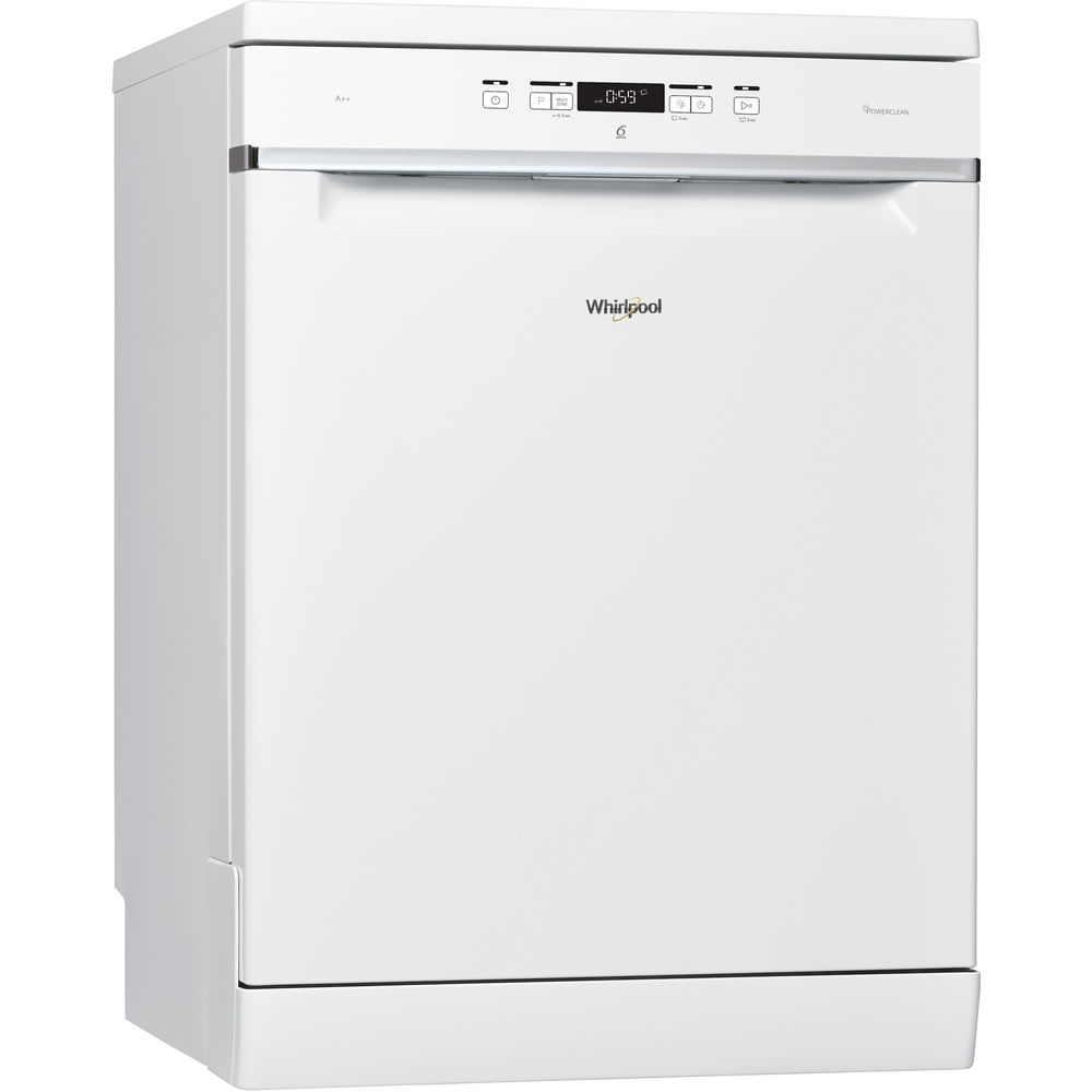 Whirlpool dishwasher: white color, full size - WFC 3C24 P UK