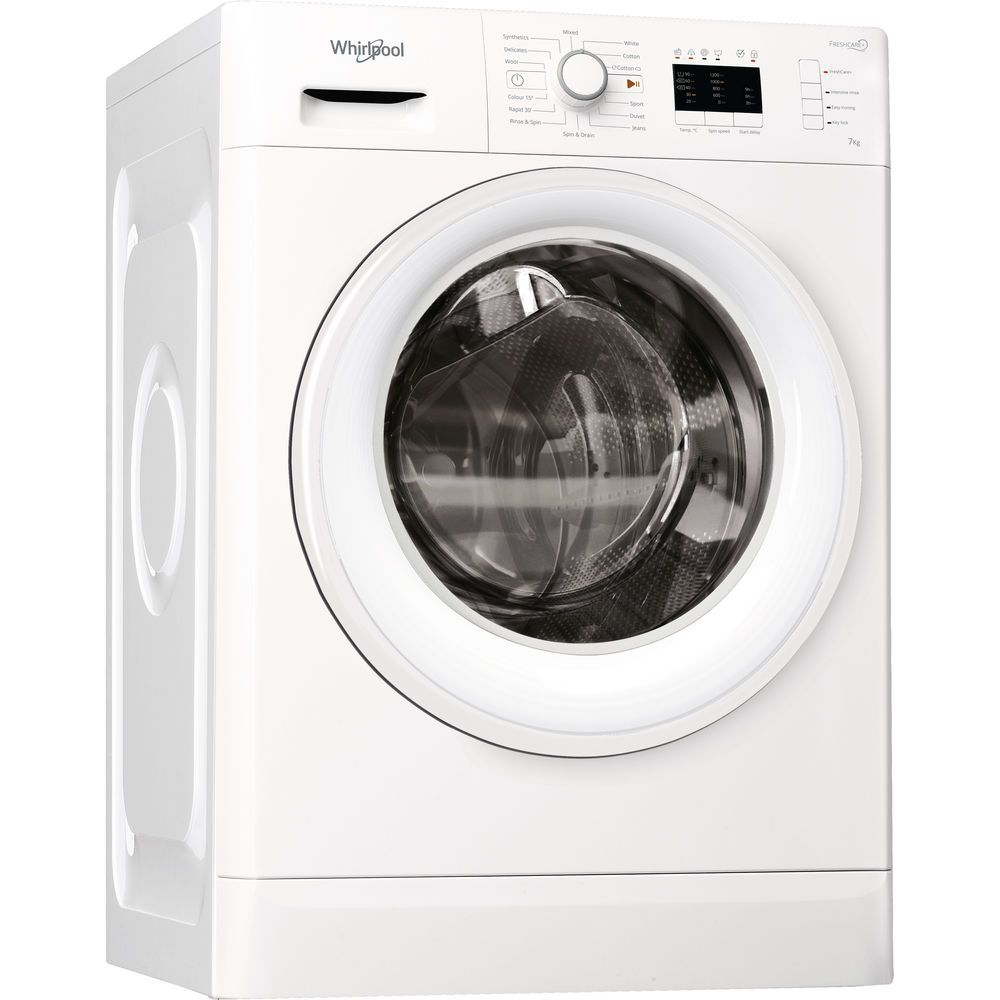 Whirlpool freestanding front loading washing machine: 7kg - FWL71253W UK