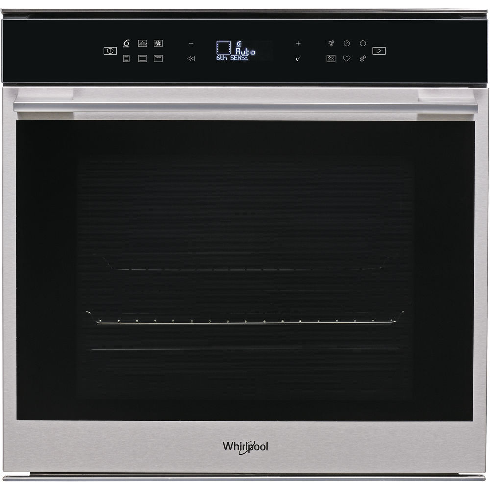 Whirlpool built in electric oven: inox color, self cleaning - W7 OM4 4S1 P