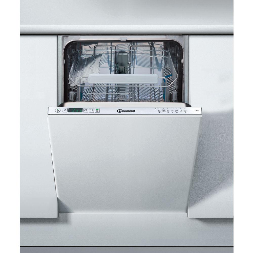 Bauknecht Vollintegrierter Geschirrspüler: 45 Cm Kompaktgerät, Farbe Silber    OBI Ecostar 8445
