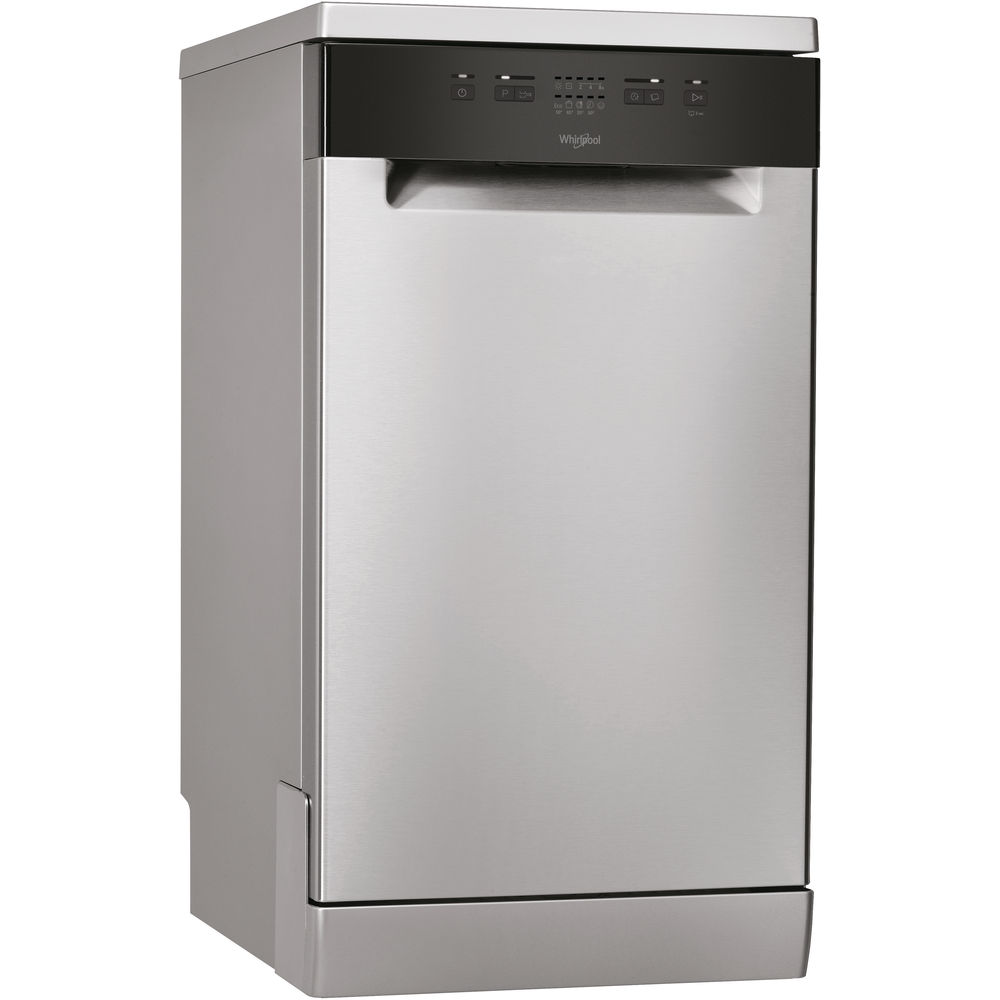Whirlpool dishwasher: inox color, slimline - WSFE 2B19 X UK