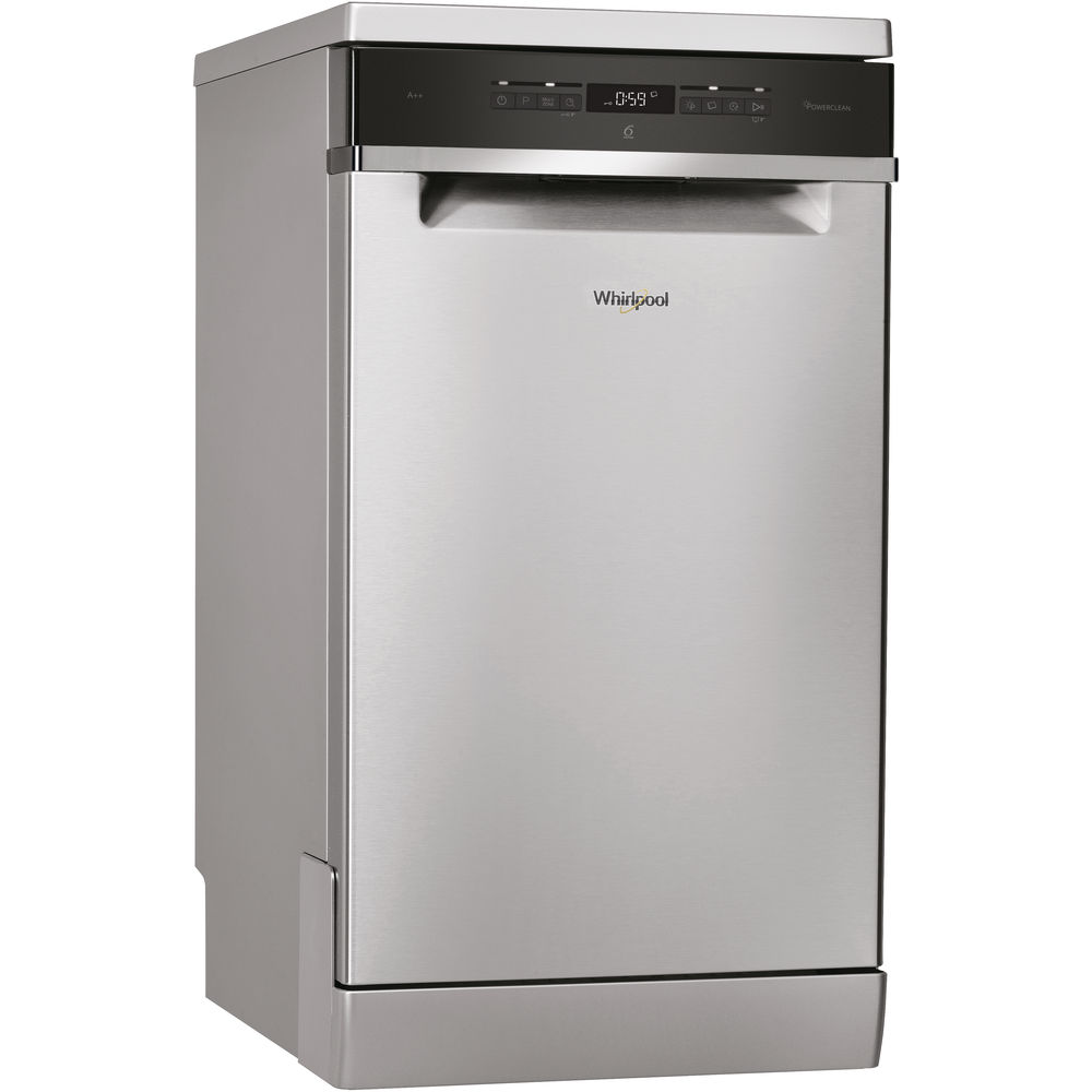 Whirlpool dishwasher: inox color, slimline - WSFO 3T223 PC X UK