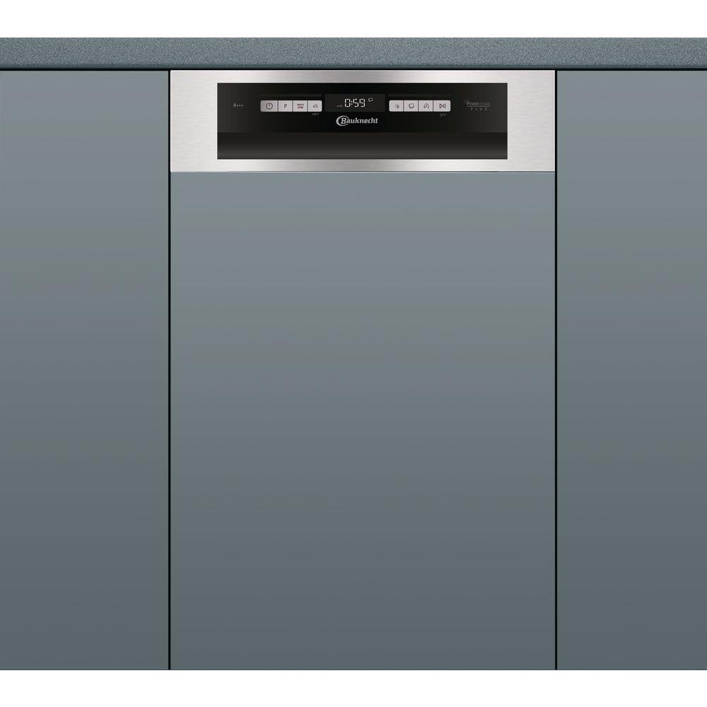 Bauknecht Teilintegrierter Geschirrspüler: 45 Cm Kompaktgerät, Farbe  Edelstahl   BSBO 3O35 PF X