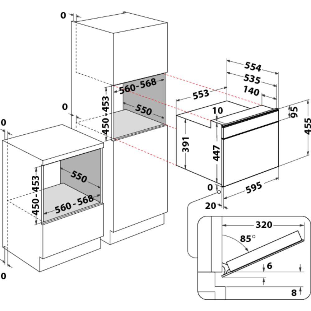 Bauknecht integreerbare microgolfoven: Kleur: roestvrij staal - EMPK9 P645 PT