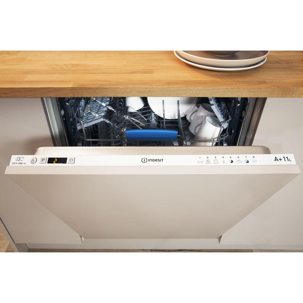 lave vaisselle int grable indesit standard 60cm couleur blanche difp 68b1 eu. Black Bedroom Furniture Sets. Home Design Ideas
