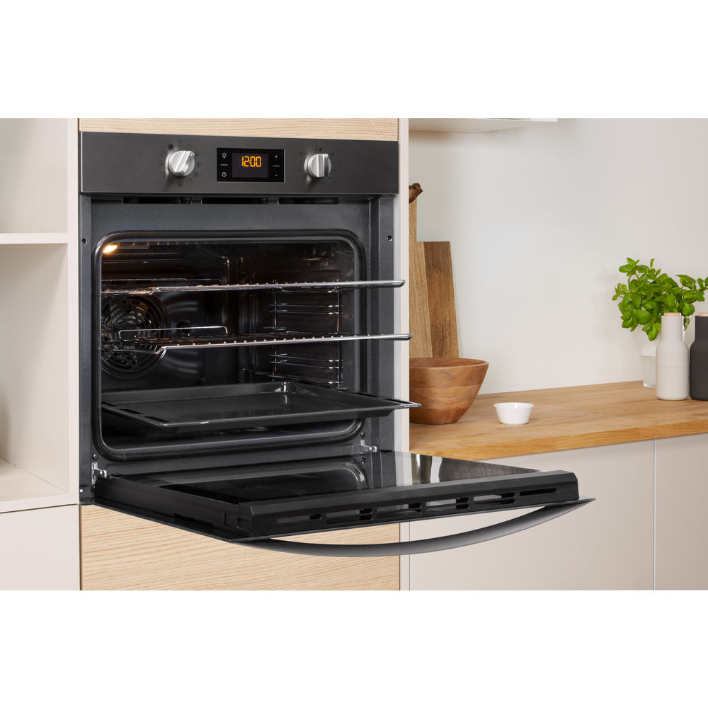 Indesit Aria IFW 4844 H BL UK Electric Single Built-in Oven in Black