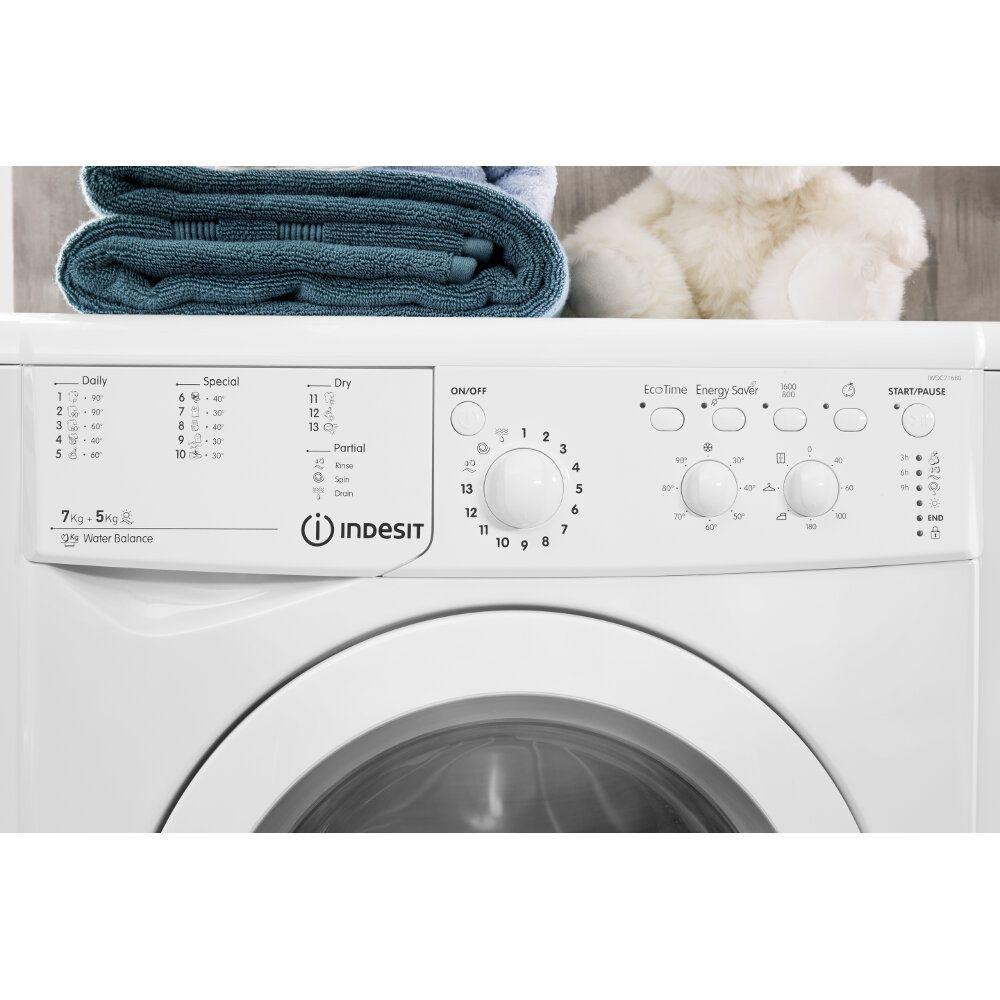 Indesit Stand Waschtrockner 7kg Iwdc 71680 Eco Eu