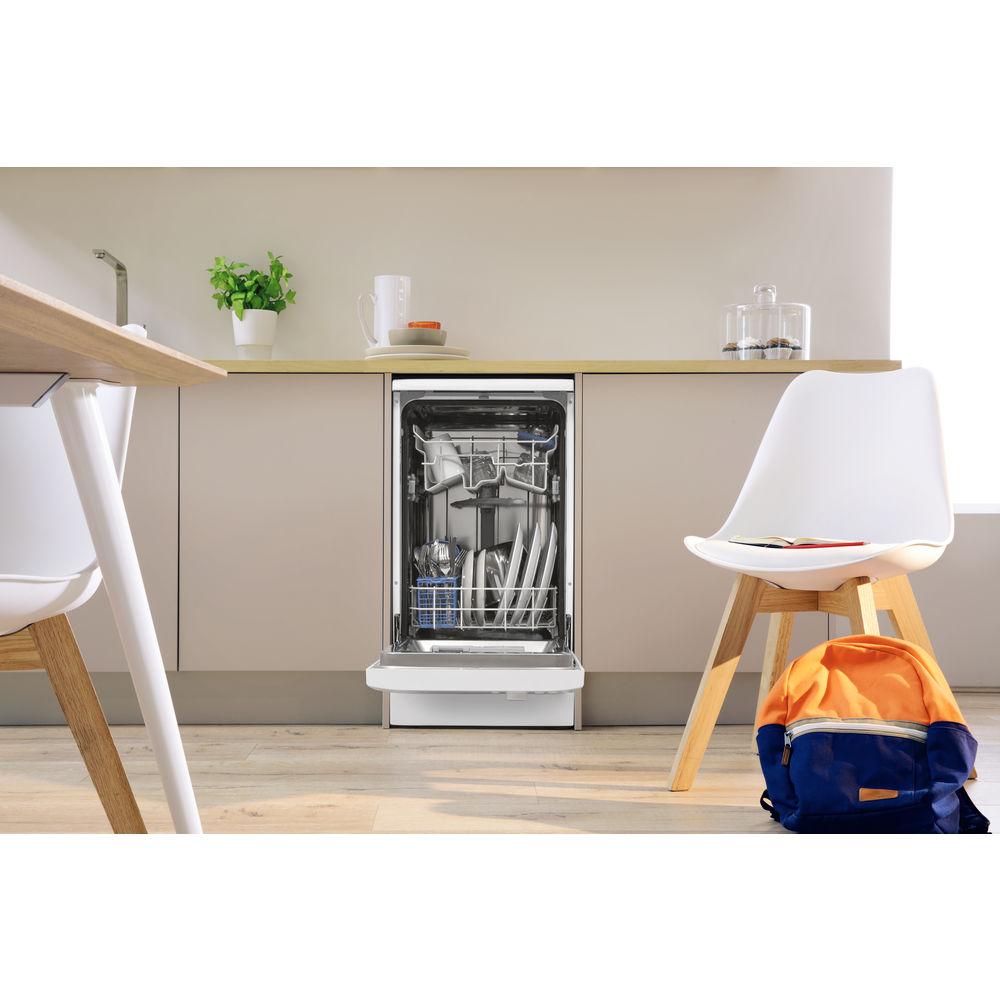lave vaisselle indesit gain de place 45cm couleur blanche dsr 26b17. Black Bedroom Furniture Sets. Home Design Ideas