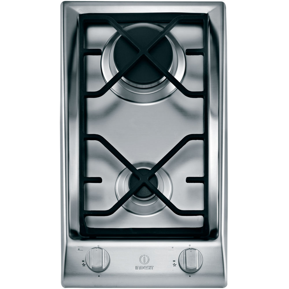 Table gaz indesit gaz 2 feux dp 2gs ix - Table de cuisson gaz 2 feux ...