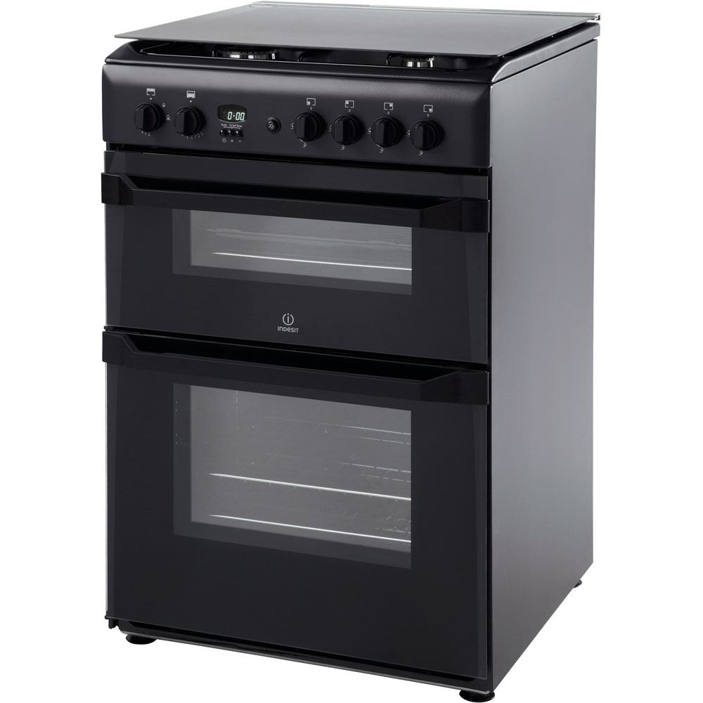 Hotpoint Newstyle HAG51K Cooker - Black