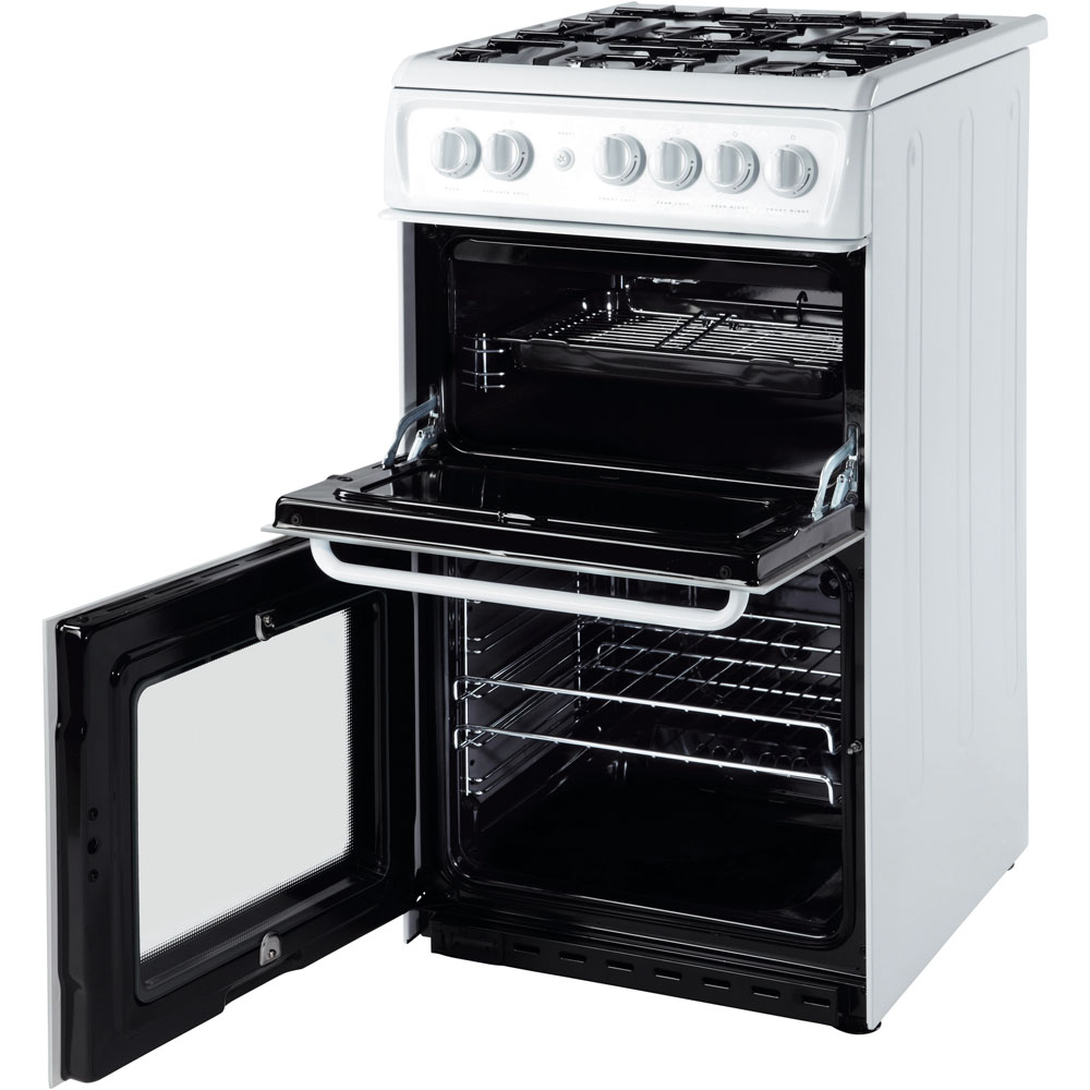 Hotpoint gas freestanding double cooker: 50cm