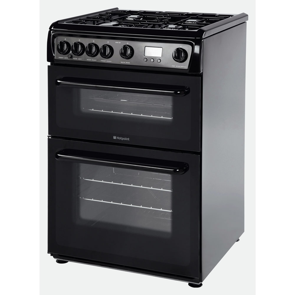 Hotpoint gas freestanding double cooker: 60cm