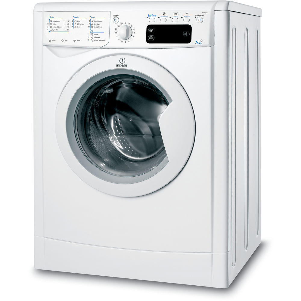 Indesit ecotime iwde 7125 b washer dryer in white iwde 7125 b uk - Comment utiliser calgon machine laver ...