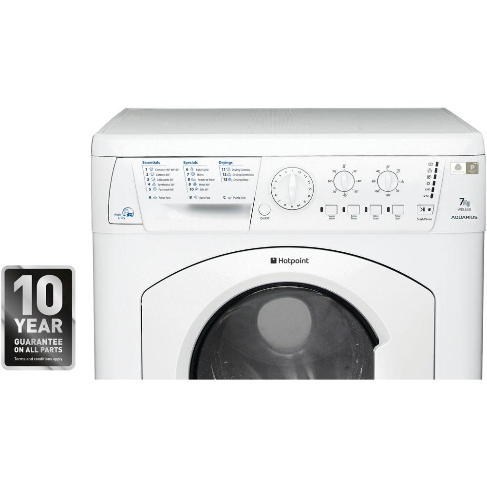 Hotpoint Aquarius WDL 540 P .C Washer Dryer - White
