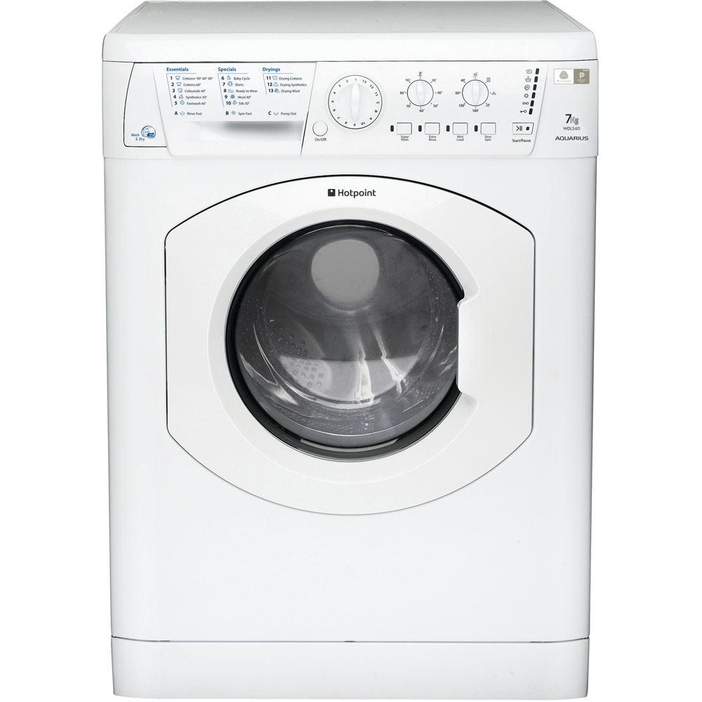Hotpoint Aquarius WDL 540 P .C Washer Dryer - White