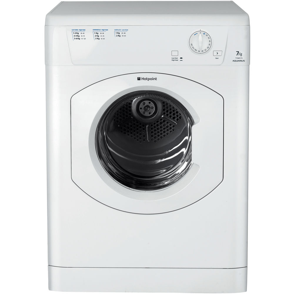 Hotpoint Aquarius TVM 570 P Tumble Dryer - White