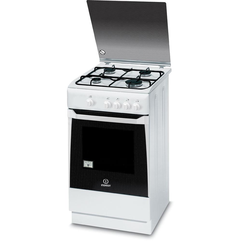 Cucina a gas a libera installazione Indesit: 50 cm - KN1G20S W I