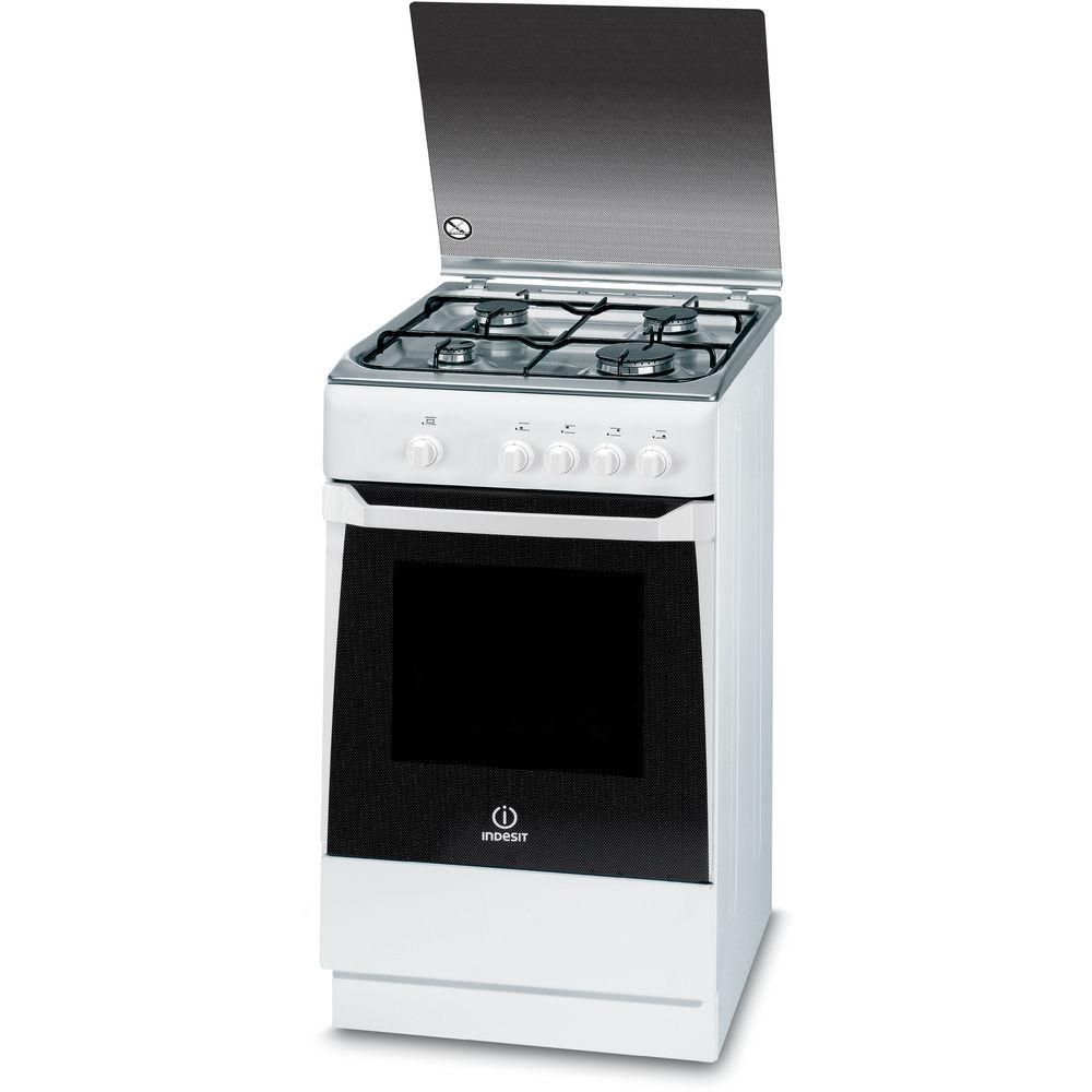 Cocina de gas de libre instalaci n indesit 50cm kn1g2s xw e for Productos cocina online