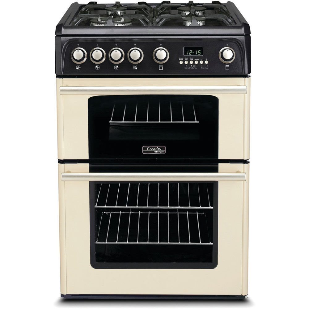 hotpoint gas freestanding double cooker 60cm ch60gpcf hotpoint rh hotpoint co uk