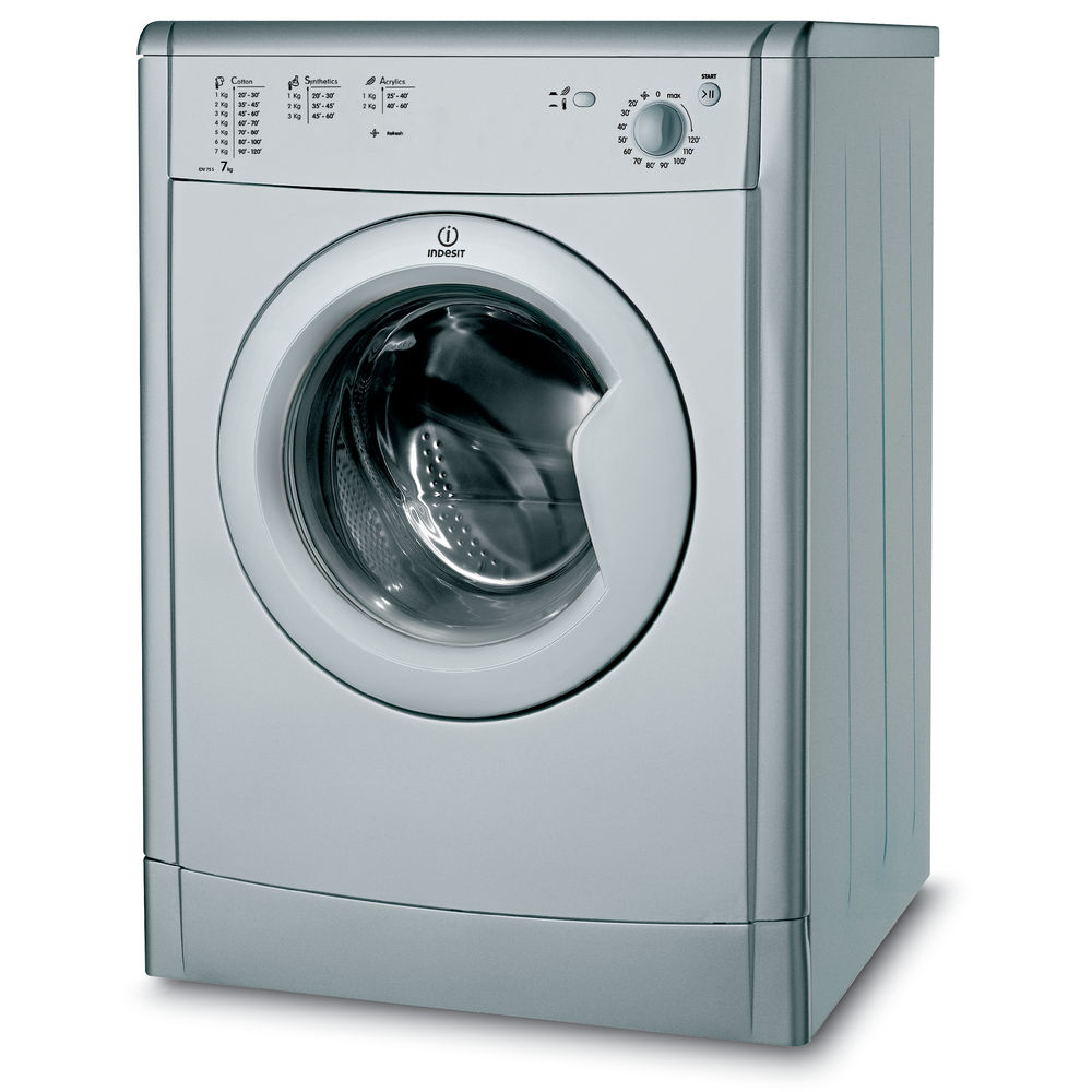 indesit ecotime idv 75 s tumble dryer in silver idv 75 s uk. Black Bedroom Furniture Sets. Home Design Ideas