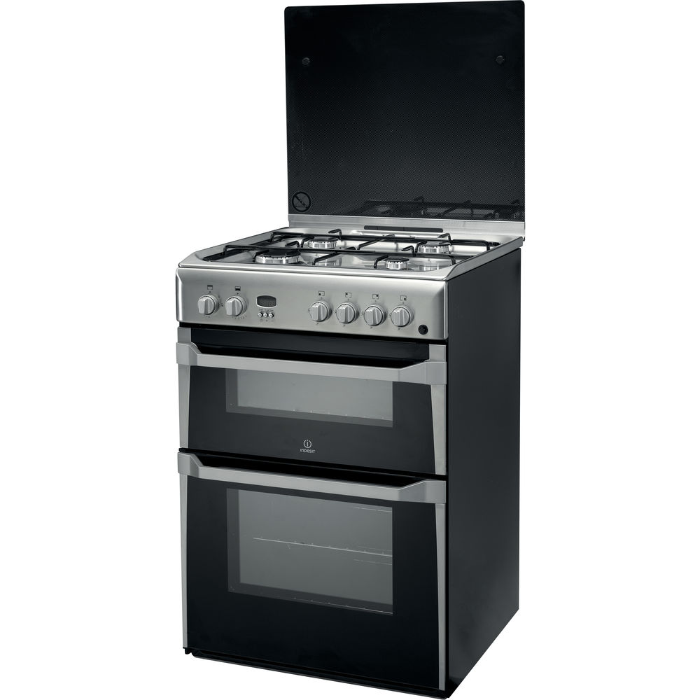 gas freestanding double cooker 60cm id60g2 x. Black Bedroom Furniture Sets. Home Design Ideas