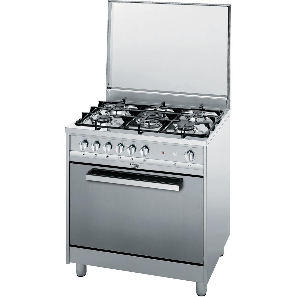 Cucina a gas a libera installazione Hotpoint - CP87SG1 /HA S ...