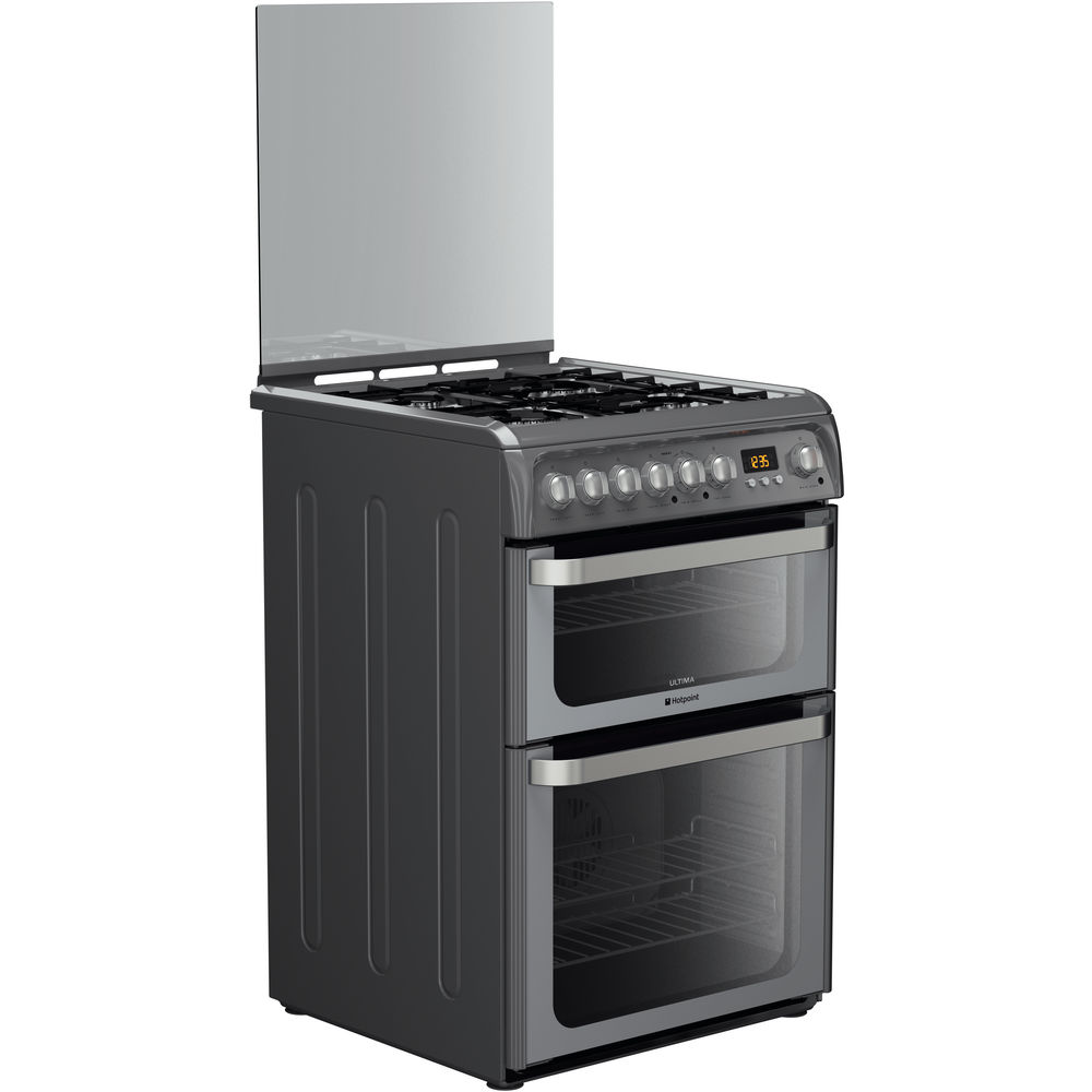 Hotpoint Ultima HUD61G S Cooker - Graphite
