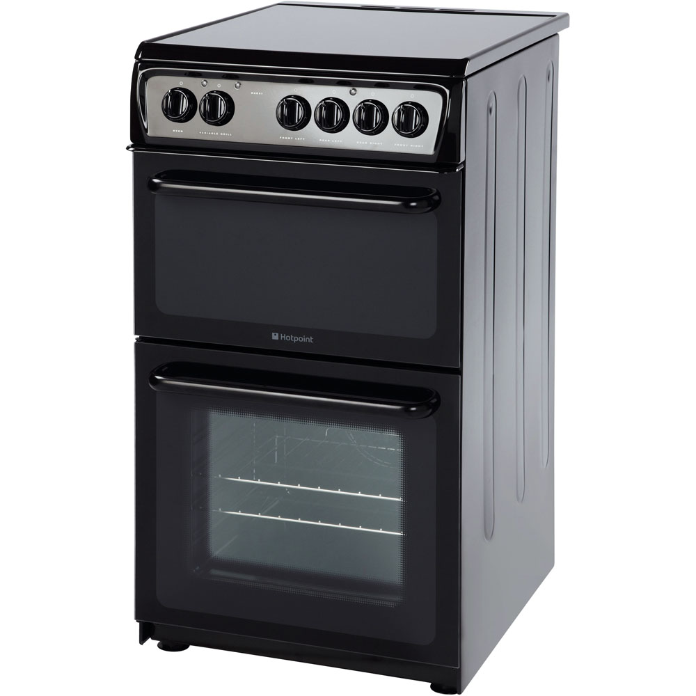 50cm: Hotpoint electric freestanding double cooker